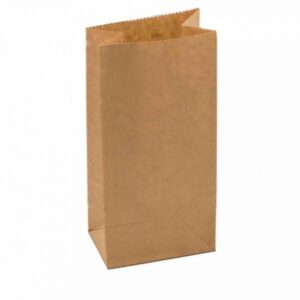 Крафт пакеты бумажные без ручек с прямоугольным дном